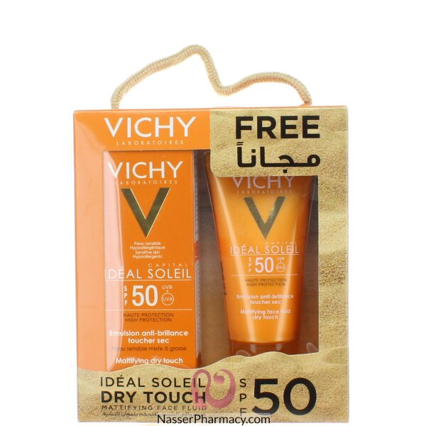 Vichy Ideal Soleil  Dry Touch Mattifying Face Fluid Spf50 Promo