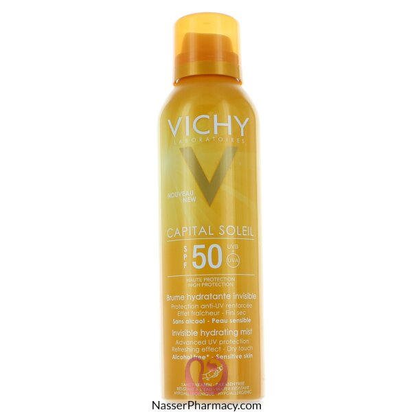 Vichy Ideal Soleil Invisible Hydrating Mist Spf 50 Sun Spray Body Protection - 200ml
