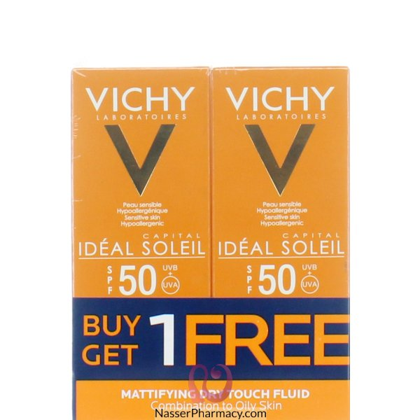 Vichy Ideal Soleil  Mattifying Dry Touch Fluid Spf50 Promo