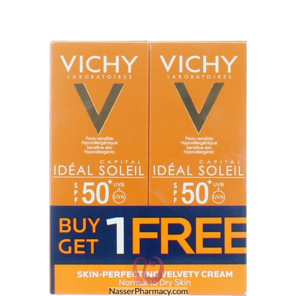 Vichy Ideal Soleil Skin Perfecting Velvety Cream Normal To Dry Skin Promo