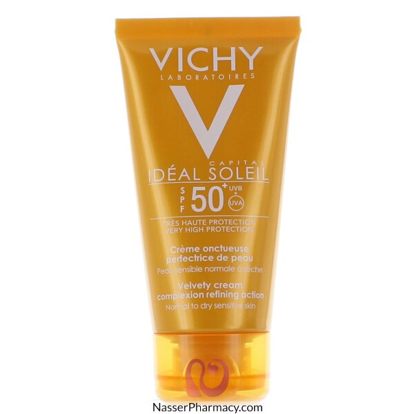 Vichy Ideal Soleil Velvety Cream Spf 50+ Skin Perfecting Action - 50ml