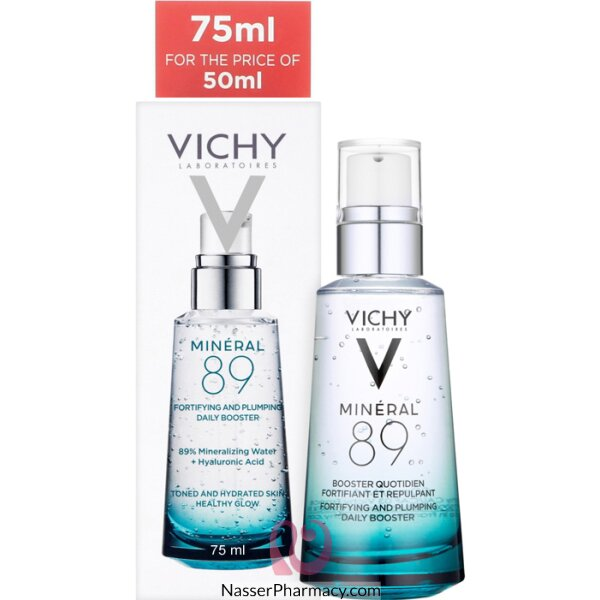 Vichy Mineral 89 Fortifying And Plumping Daily Booster 75ml Promo