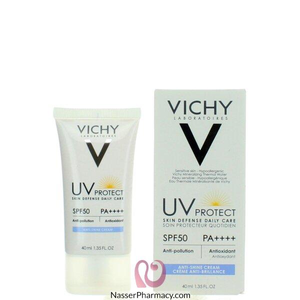 Buy Vichy Skin Defense Daily Care Anti Shine Cream Spf50 40ml From Nasser Pharmacy In Bahrain