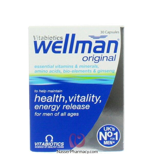 ويلمان ارويجينال  (wellman) 30 كبسولة