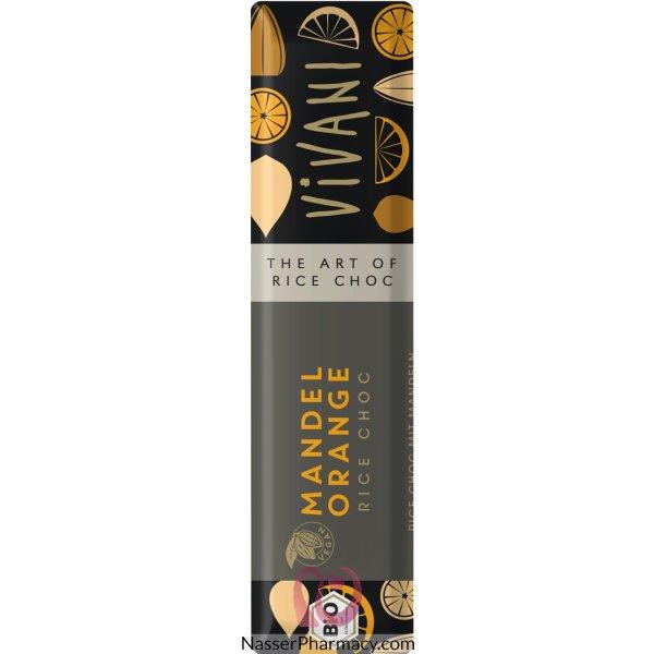 فيفاني Vivani  بار شوكولاتة نباتية باللوز والبرتقال 35 جرام