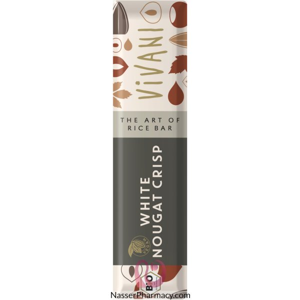 فيفاني Vivani  بار شوكولاته بيضاء  نباتية  مع نوجا مقرمشة  35 جرام