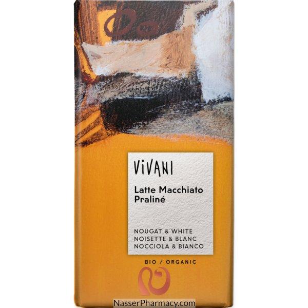 فيفاني Vivani  شوكولاتة بيضاء نباتية طبيعية مع النوجا والاسبريسو  100 جرام