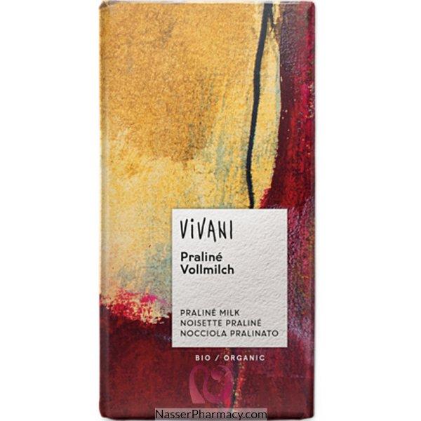 فيفاني Vivani  شوكولاتة طبيعية بالبراليني (نوجا وبندق) 100 جرام