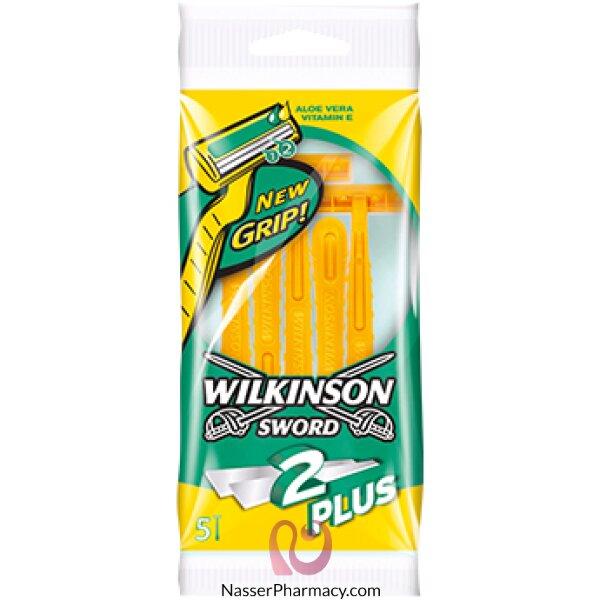 Wilkinson 2 Plus Disposable Razor 5 Pack-41819
