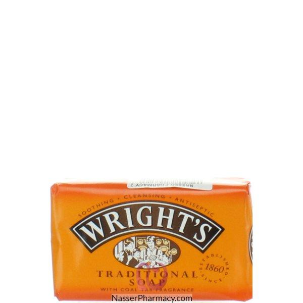 رايتس Wright's صابون مطهر وملطف للبشرة برائحة قطران الفحم 125 جرام
