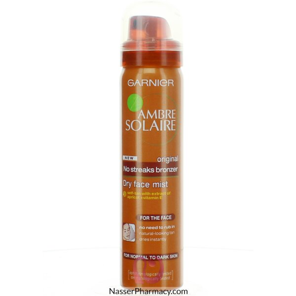 Ambre Solaire Natural Bronzer Self Tan Dry Face Mist 75ml