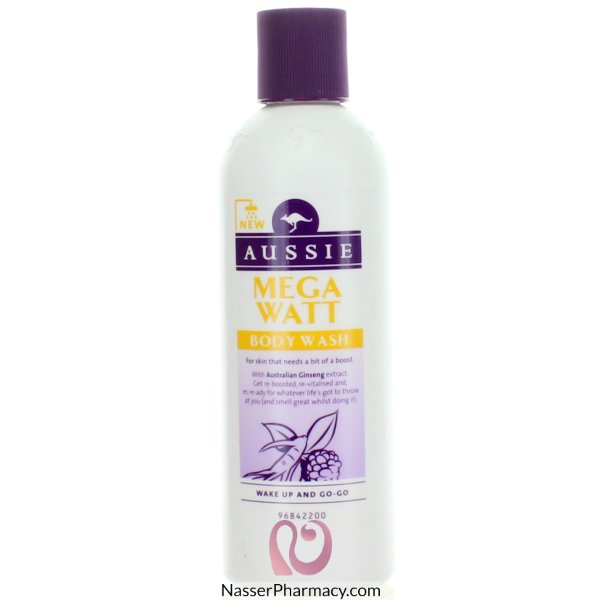 Aussie Shower Gel Mega Watt 250ml-57069