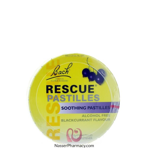 Rescue Soothing Pastilles Blackcurrent 50 Gm