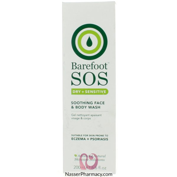 Barefoot Sos Soothing Face&body Wash 200ml-sosfbw200