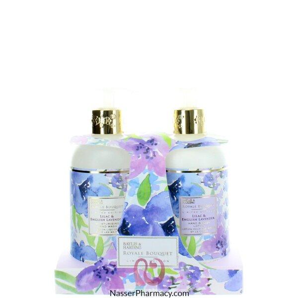 بايلس اند هاردنج Bayliss & Harding مجموعة لوشن اليدين والجسم Royale Bouquet Lilac & English Lavender