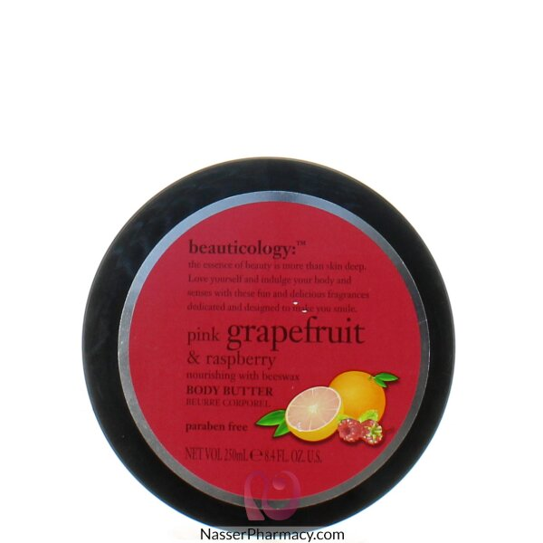 Baylis & Harding  Body Butter  With  ( Pink Grape Fruit & Rasperry )  Jar 250ml