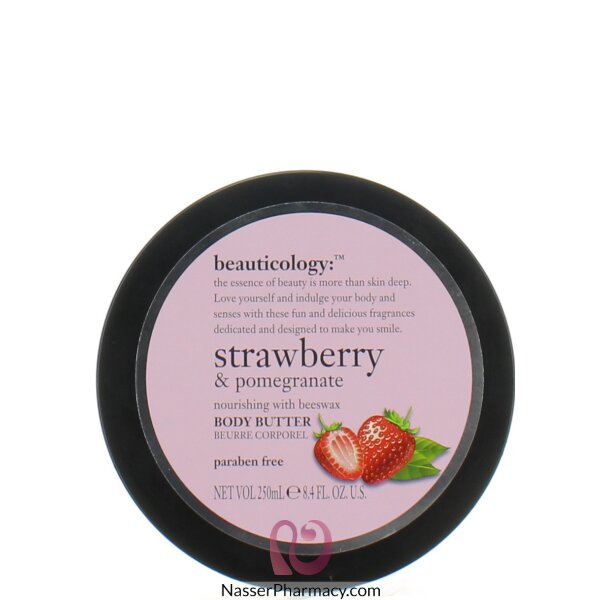 Baylis & Harding  Body Butter  With Strawberry And Pomegranate  Jar 250ml
