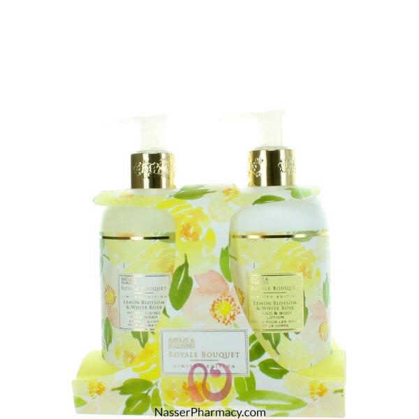 Baylis & Harding Royale Bouquet Lemon Blossom & White Rose 2 Bottels