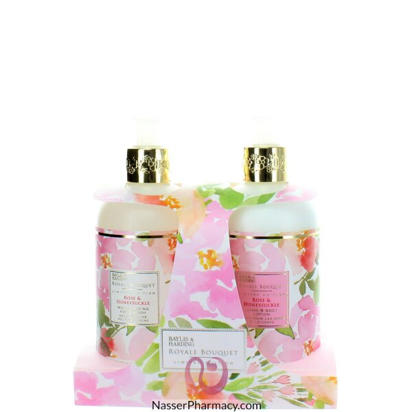 Baylis & Harding Royale Bouquet Rose & Honeysuckle 2 Bottle Set