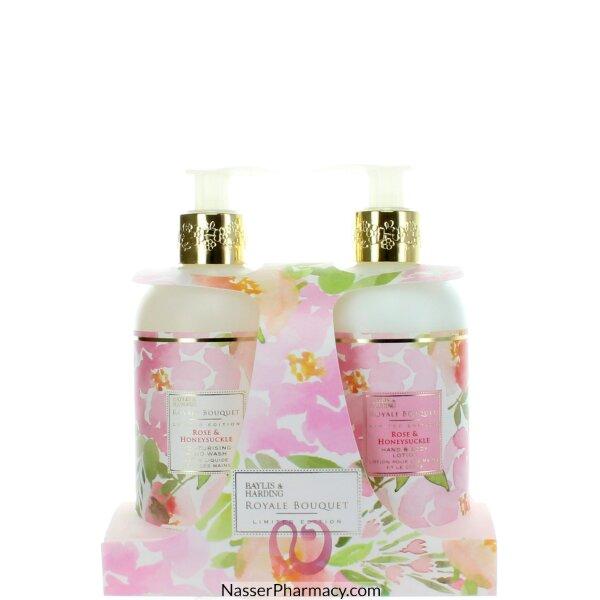 Baylis & Harding Royaleroyale Bouquet Rose & Honey Suckle 2 Bottles