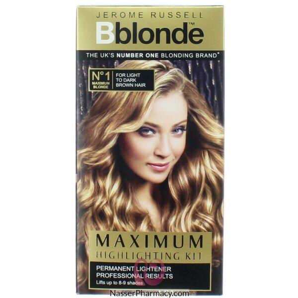 صبغة Jerome Russell B Blonde لتفتيح الشعر البنى الخفيف أو البنى الغامق
