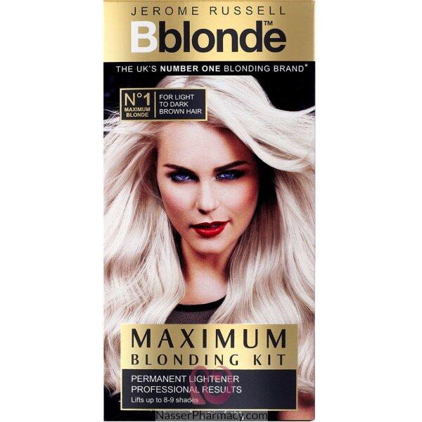 صبغة Jerome Russell B Blonde لتفتيح الشعر البنى المتوسط أو البنى الغامق