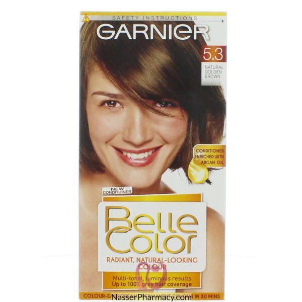 جارنييرbelle Color صبغة دائمة للشعر -new 5.3 Golden Brown