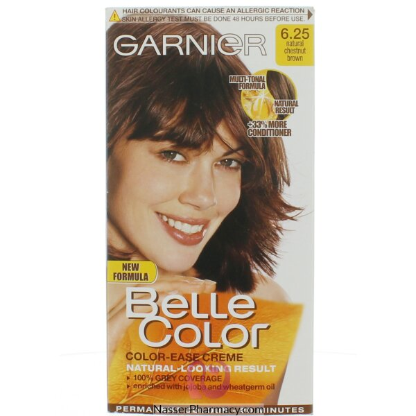 جارنييرbelle Color صبغة دائمة للشعر - New 6.25 Chest Nut Brown