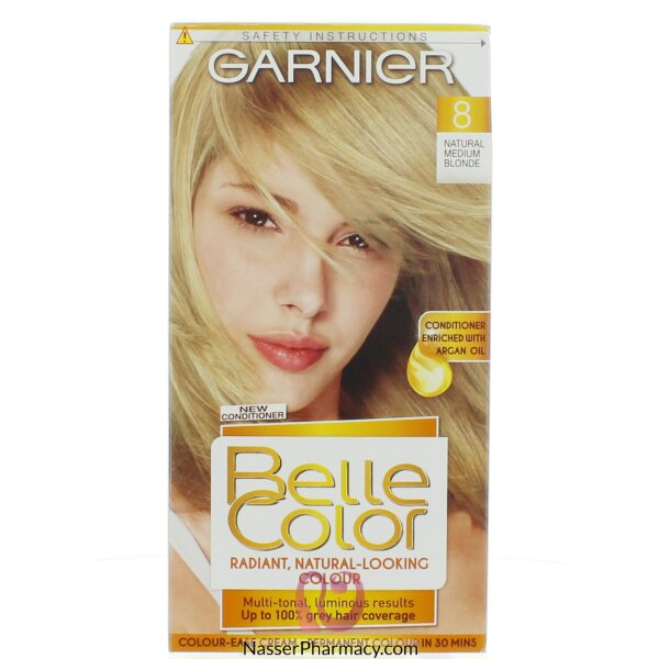 جارنييرbelle Color صبغة دائمة للشعر -new 8 Medium Blonde