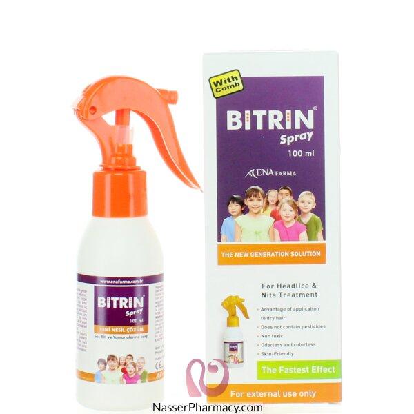 بيترين Bitrin Head Lice سبراي الشعر لعلاج قمل الرأس 100 مل
