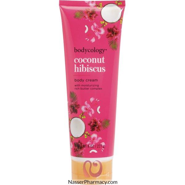 Bodycology Coconut Hibiscus B/cream 8oz-103405-ct