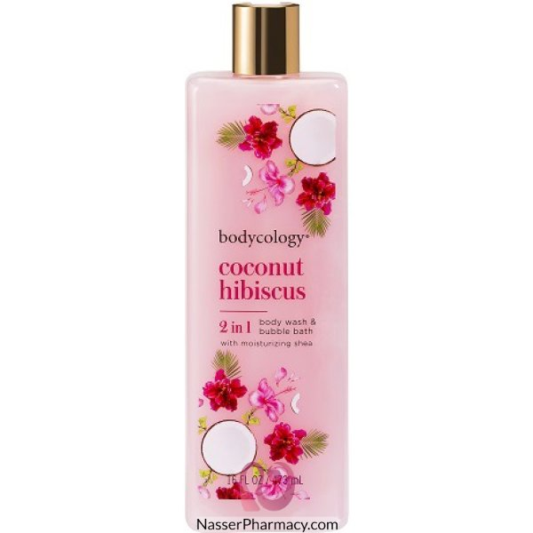 Bodycology Coconut Hibiscus Wash 16oz 103409-ct