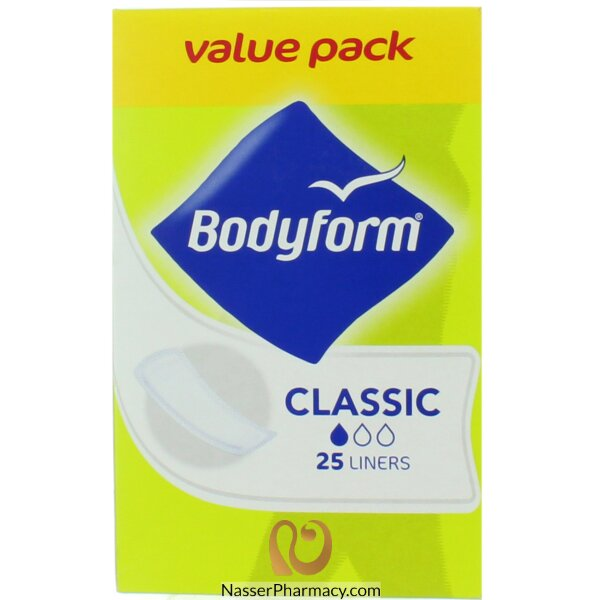 Bodyform Daily Liners Classic  24's