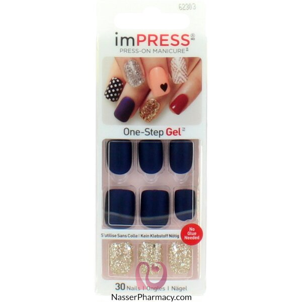 Broadway Impress Press- On Manicure Accent Nails Bells & Whistles