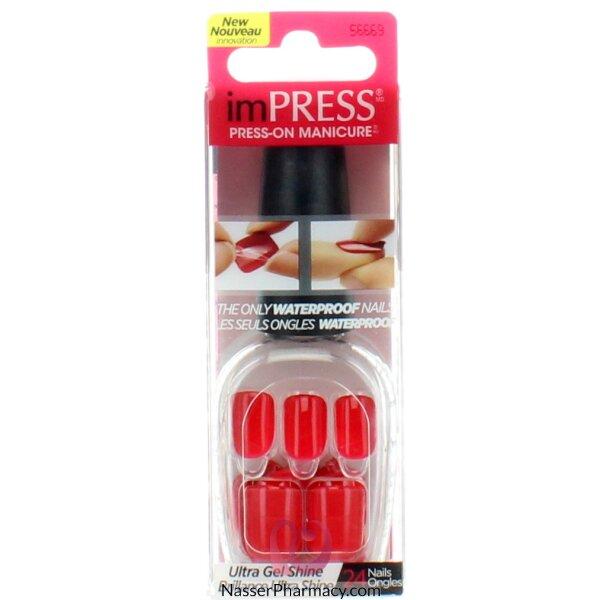 Broadway Impress Press- On Manicure  Call My Agent-red