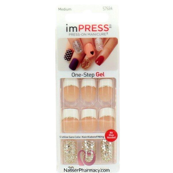 Impress Press On Manicure - Medium Length - French