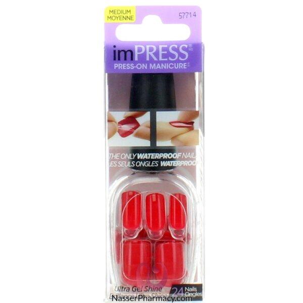 Impress Press On Manicure - Medium Length - Red