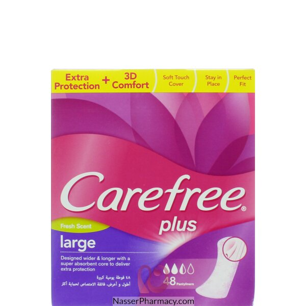 Carefree Large Fresh 48 Pieces
