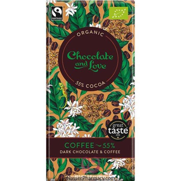 Chocolate Love Organic Choc With Coffee 55% 80g