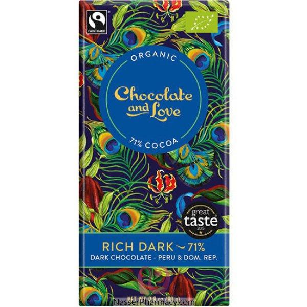 C&l Rich Dark Org/fairtrade Dark Choc 71%