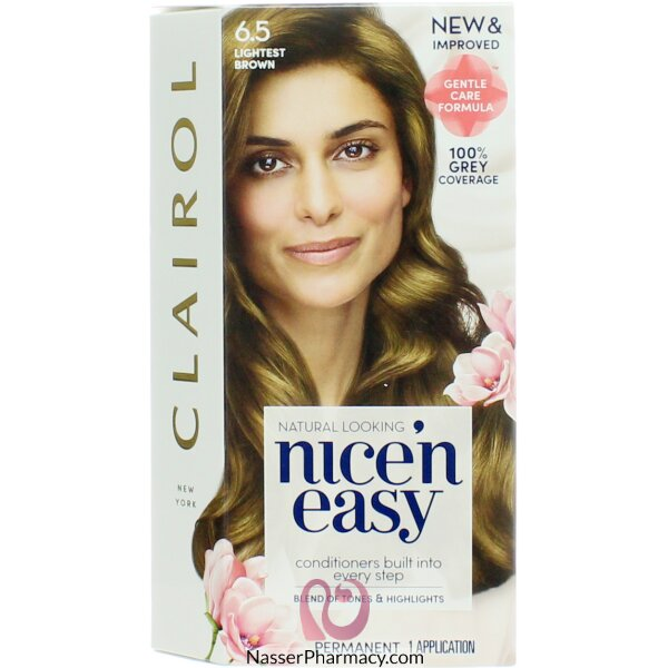 كليرول Clairol Nice'n Easy صبغة شعر لون  بني فاتح  6.5