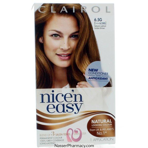 كليرول   Clairol Nice&#39n Easy   صبغة  للشعر  بنى ذهبى خفيف