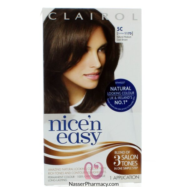 كليرول  Clairol Nice&#39n Easy  صبغة للشعر  لون Medium Cool Brown