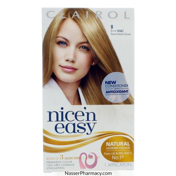 Clairol Nice'n Easy - 8 Natural Medium Blonde