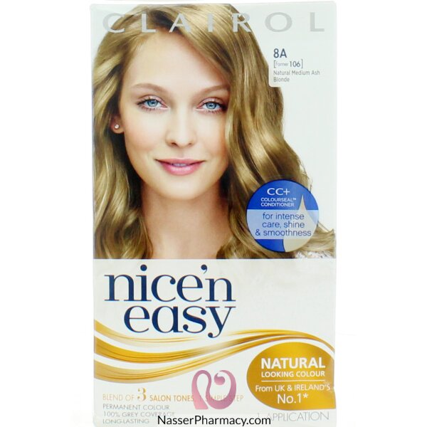 Clairol Nice'n Easy  8a Natural Medium Ash Blonde