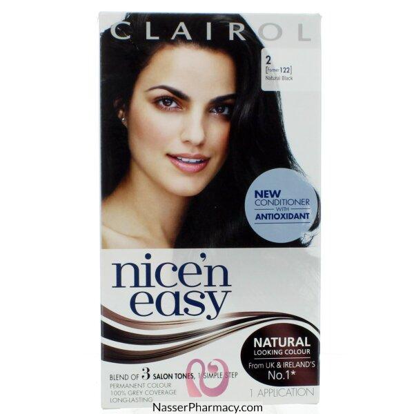 Clairol Nice'n Easy -natural Black 2