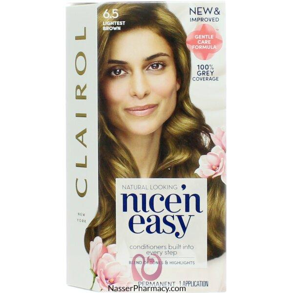 Clairol Nice'n Easy  6.5 Lightest Brown