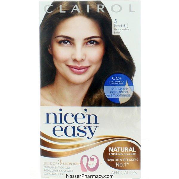 Clairol Nice'n Easy Natural Medium Brown 5