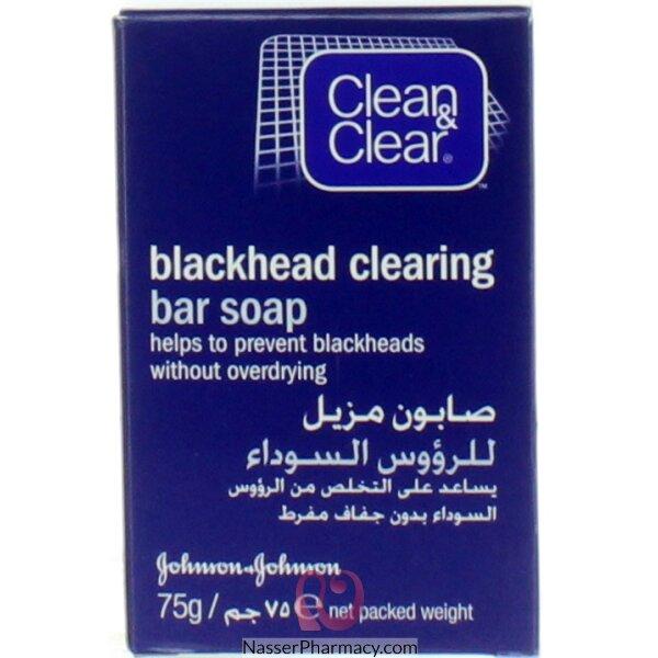 كلين آند كلير Clear And Clean صابون مزيل للرؤوس السوداء 75 جرام