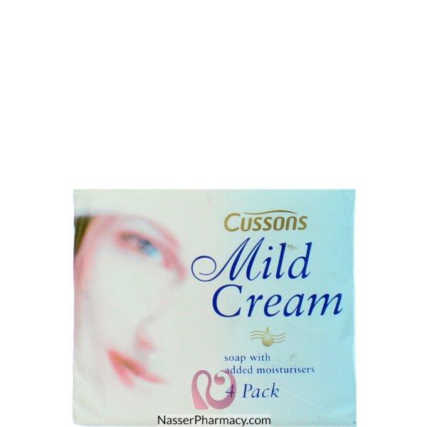 كسونس Cussons صابون كريم مرطب للبشرة  - 4 قطع في 90 جرام